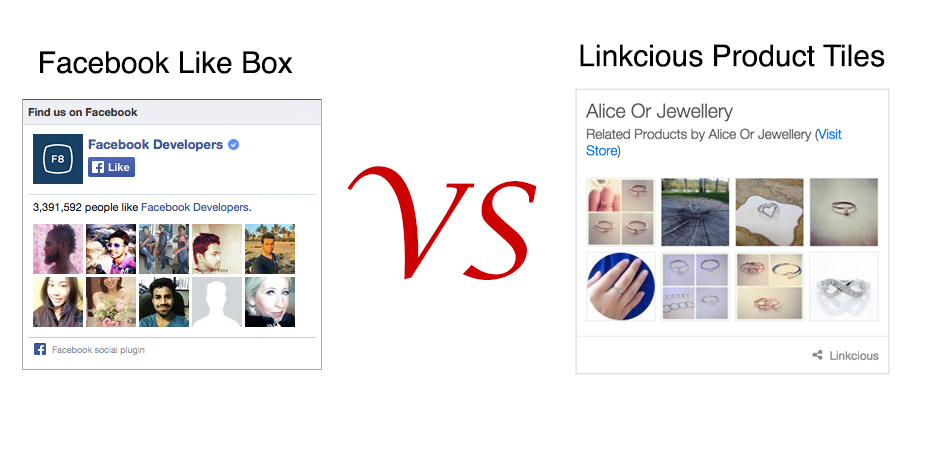 Facebook Like Box vs Related Products